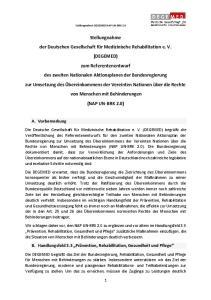 Stellungnahme DEGEMED NAP UN-BRK 2.0