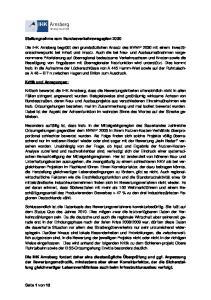 Stellungnahme zum Bundesverkehrswegeplan 2030