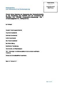 Stellungnahme zum Gesetzentwurf der Bundesregierung
