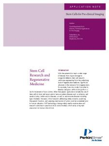 Stem Cell Research and Regenerative Medicine