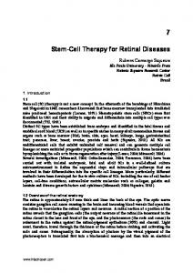 Stem-Cell Therapy for Retinal Diseases