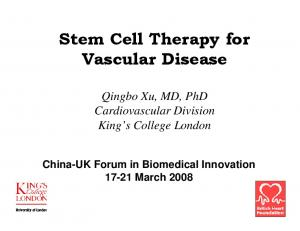 Stem Cell Therapy for Vascular Disease