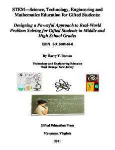 STEM Science, Technology, Engineering and Mathematics Education for Gifted Students: