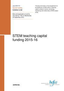 STEM teaching capital funding