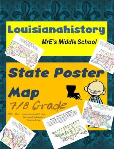 Step-by-Step directions for your LOUISIANA POSTER MAP