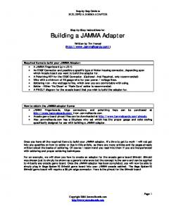 Step-by-Step Guide to BUILDING A JAMMA ADAPTER. Step-by-Step Instructions for: Building a JAMMA Adapter