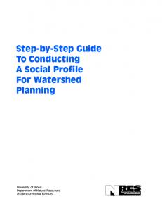 Step-by-Step Guide To Conducting A Social Profile For Watershed Planning