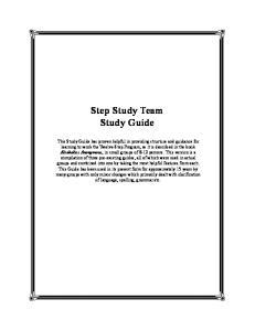Step Study Team Study Guide