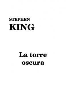STEPHEN KING. La torre oscura