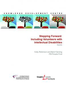 Stepping Forward: Including Volunteers with Intellectual Disabilities Guide