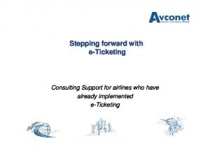 Stepping forward with e-ticketing