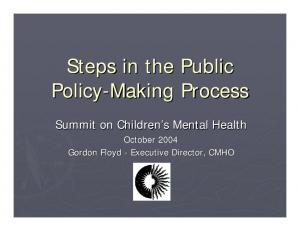 Steps in the Public Policy-Making Process