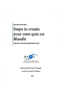 Steps to create your own quiz on Moodle