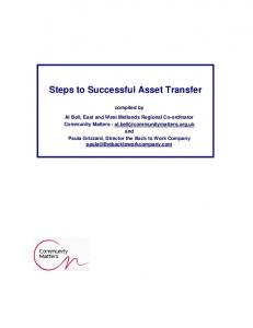 Steps to Successful Asset Transfer