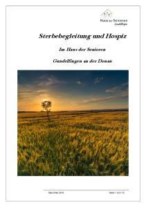 Sterbebegleitung und Hospiz