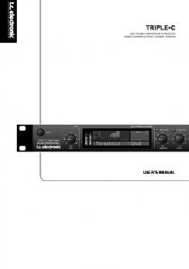 STEREO CHANNEL VERSION USER S MANUAL