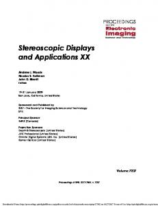 Stereoscopic Displays and Applications XX