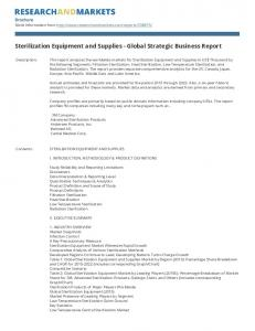 Sterilization Equipment and Supplies - Global Strategic Business Report