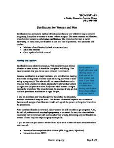 Sterilization for Women and Men