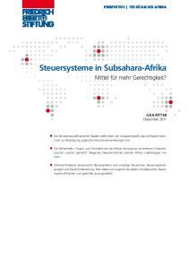 Steuersysteme in Subsahara-Afrika