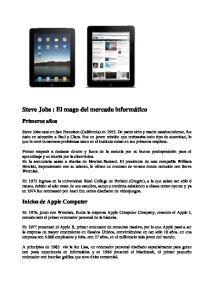 Steve Jobs : El mago del mercado informático