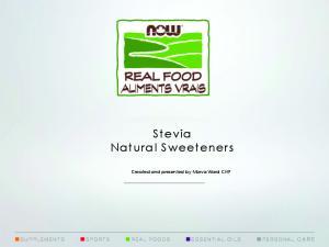 Stevia Natural Sweeteners