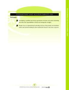 STEWARDSHIP AND ACCOUNTABILITY (SA)