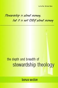 Stewardship is about money, but it is not ONLY about money