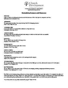 Stewardship Scripture and Resources