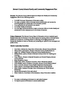 Stewart County Schools Family and Community Engagement Plan