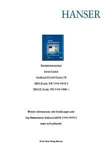 Stichwortverzeichnis. Bernd Gischel. Handbuch EPLAN Electric P8. ISBN (Buch): ISBN (E-Book):