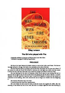 Stieg Larsson. The Girl who played with Fire