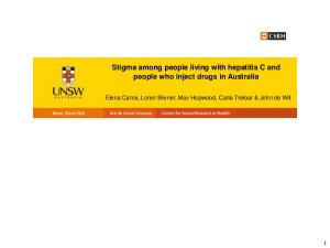 Stigma among people living with hepatitis C and people who inject drugs in Australia