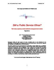 Still a Public Service Ethos?