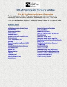 STLCC Community Partners Catalog