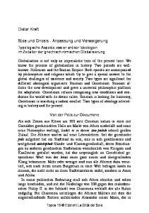 Stoa und Gnosis - Anpassung und Verweigerung