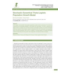 Stochastic Dynamical Theta-Logistic Population Growth Model