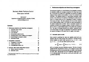 Stochastic Model Predictive Control: State space methods