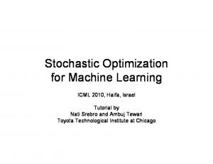 Stochastic Optimization for Machine Learning