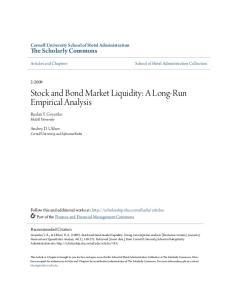 Stock and Bond Market Liquidity: A Long-Run Empirical Analysis