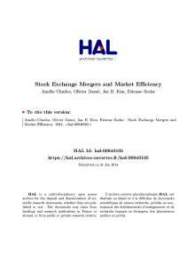 Stock Exchange Mergers and Market Efficiency
