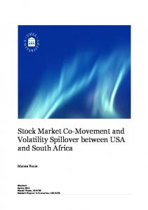 Stock Market Co-Movement and Volatility Spillover between USA and South Africa