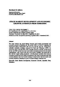 STOCK MARKET DEVELOPMENT AND ECONOMIC GROWTH: EVIDENCE FROM ZIMBABWE