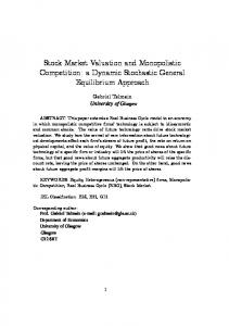 Stock Market Valuation and Monopolistic Competition: a Dynamic Stochastic General Equilibrium Approach