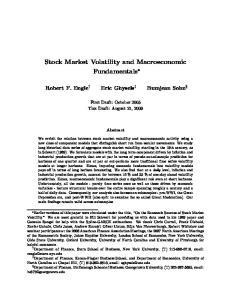 Stock Market Volatility and Macroeconomic Fundamentals