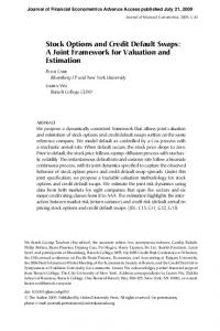 Stock Options and Credit Default Swaps: A Joint Framework for Valuation and Estimation