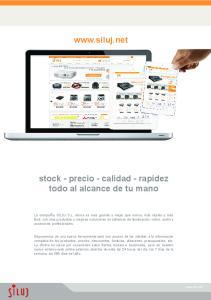 stock - precio - calidad - rapidez todo al alcance de tu mano