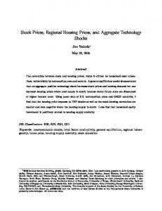 Stock Prices, Regional Housing Prices, and Aggregate Technology Shocks