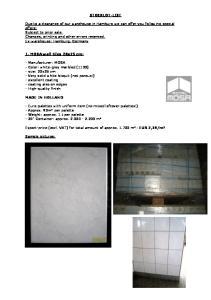 STOCKLOT-LIST. 1. MOSA wall-tiles 20x25 cm: