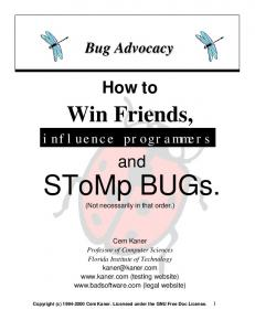 SToMp BUGs. (Not necessarily in that order.)